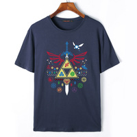 Flevans Man Summer Brand The Legend Of Zelda Printed T Shirts 2017 New Fashion Cotton O