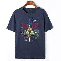 Flevans Man Zomer Merk De Legende van Zelda Gedrukt T-shirts 2017 Nieuwe Mode Katoen O-hals Casual t-shirts