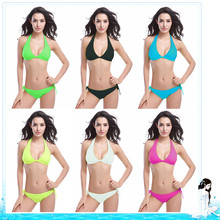 New Swimwear Sexy bikini swim suit push up 6 colors Women Sexy bikinis brazilian Chest pad Set Swimsuit sling beach wear