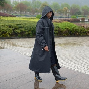 Image 2 - Long Raincoats Men trench coat Poncho Impermeable Rain coat Men Waterproof Rain Coat Poncho Jacket Outdoors Tour Rainwear Adults