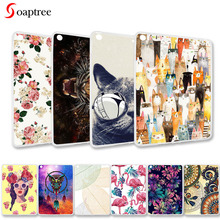 Fashion painted Cases For Apple iPad 9.7 2017 2018 Cases A1822 A1823 A1893 A1954 9.7 inch Soft TPU Cute Cartoon Animals Covers