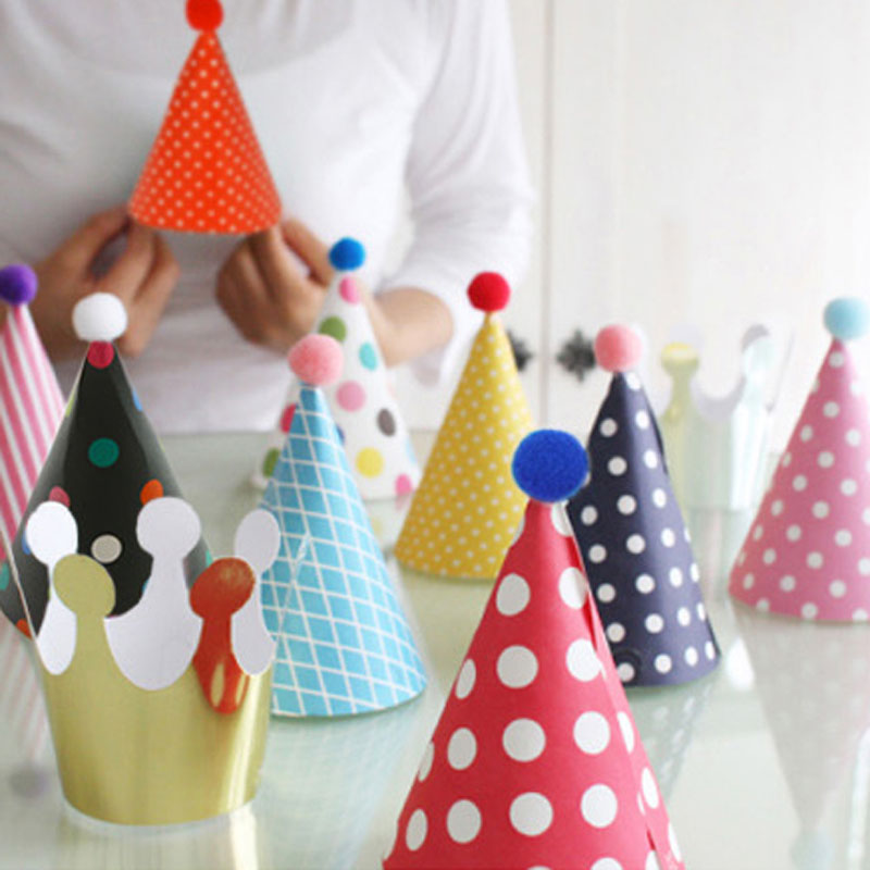 11pcs Cute Party Hats Party Celebration Birthday Hat Festive Party Photograph Items Birthday Party Decorations Kids