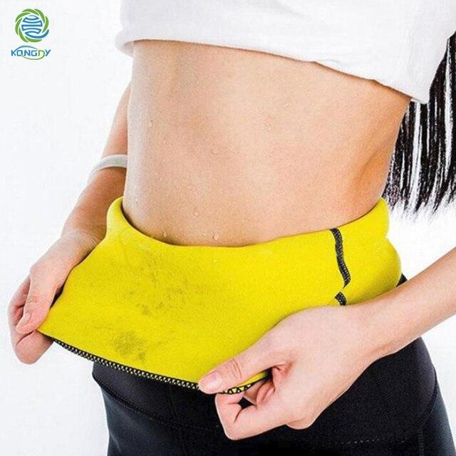 KONGDY Slimming Shaper Belt Neoprene Abdominal Fat burning Weight Loss Band Sweat Sauna Hot Waist Trainer Corset Body Sculpting 1