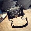 Venta caliente 25 cm GRAN bolso de las señoras de Moda Hombro bolsa de Las Mujeres Bolsa de Mensajero Negro para la artesanía de alta calidad