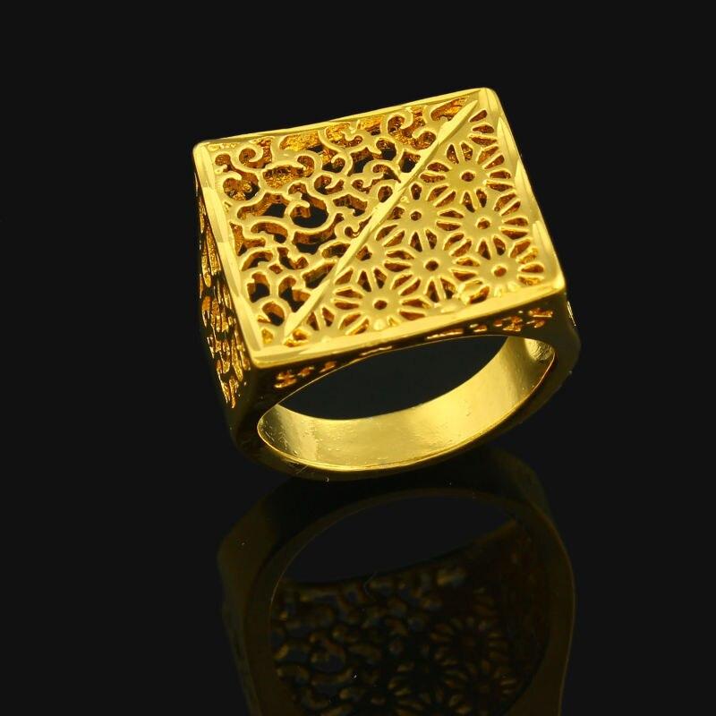 three size african gold ring for women 24k gold color eretrian big rings jewelry indiaethiopianarabicnigerianisrael items - African Wedding Rings