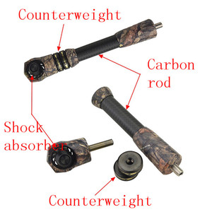 Image 5 - 1set Archery Harmonic Carbon Shock Absorber With Counterweight Used For Compound Bow Stabilizer Pole