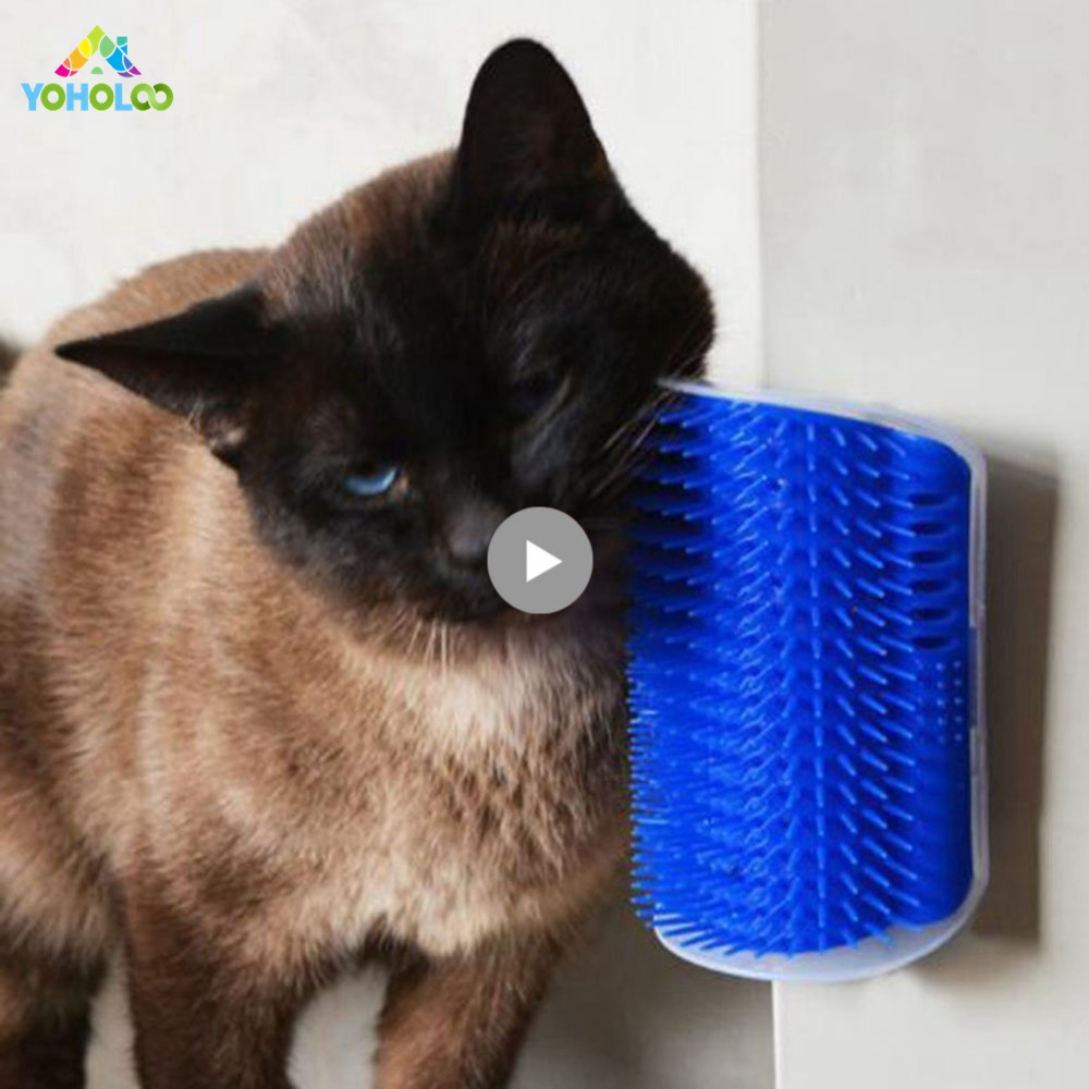 Pet Cat Self Groomer Wall Corner Massage Comb Brush Dog Cat Corner Hair Removal Comb Grooming Massage Comb Brush