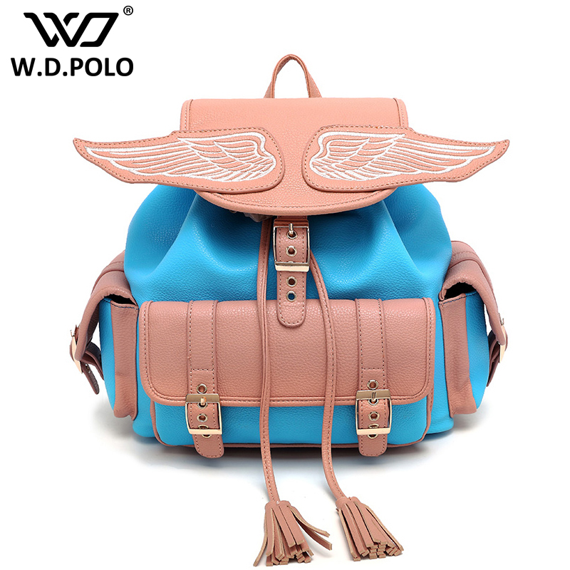 WDPOLO Gill Pu leather angle backpack high chic brand design lady hand bags easy matching girls