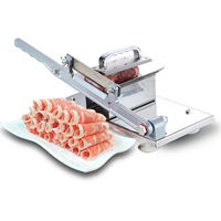 Beef And Mutton Slicer Manual Meat Cutter Household Beef And Mutton Roll Slicer Frozen Meat Planer