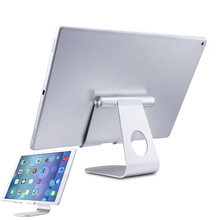 Solid Durable Holder Minimalist Design Multi-Angle Aluminum Stand for Tablet with Portable Adjustable Charging Dock QJY9