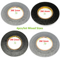 4pcs/lot mix size for 3M 1mm 2mm 3mm 4mm 3M Double Sided Tape for Ipad 1 Ipad 2 Ipad 3 ipad 4 mobile repair fix