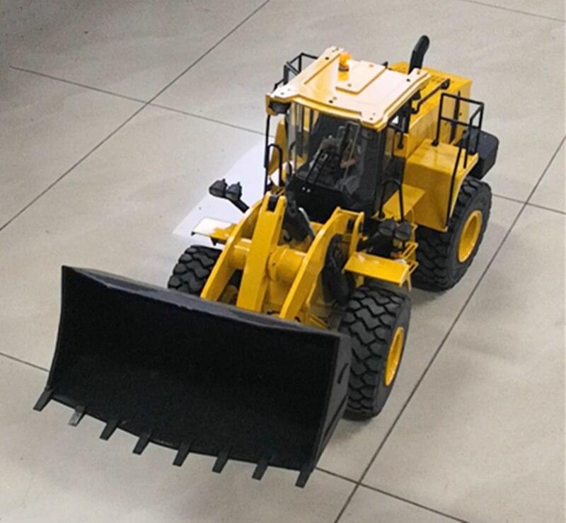 1/14 RC Control remoto hidráulico Bulldozer cargador de ruedas construcción vehículo modelo niño regalos de navidad