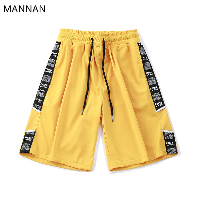 Altesse D'été Mannan Ruban Streetwear Shorts Disque Élastique Black purple Occasionnels Hommes Jogger Couleur Court red Auto Courtes yellow Taille 4 Z06qZw8xr