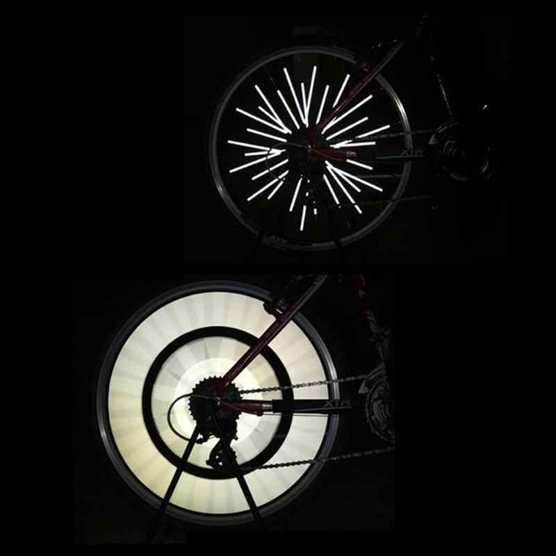 afc65ffc7b9 ... 24Pcs/Set Bike Riding Bicycle Wheel Rim Reflective Spoke Mounting  Placement Wheel Spokes Reflector Safety ...