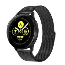 Compatible Samsung Galaxy Watch Active (40mm) Bands, Milanese Loop Mesh Magnetic Closure Adjustable Stainless Steel
