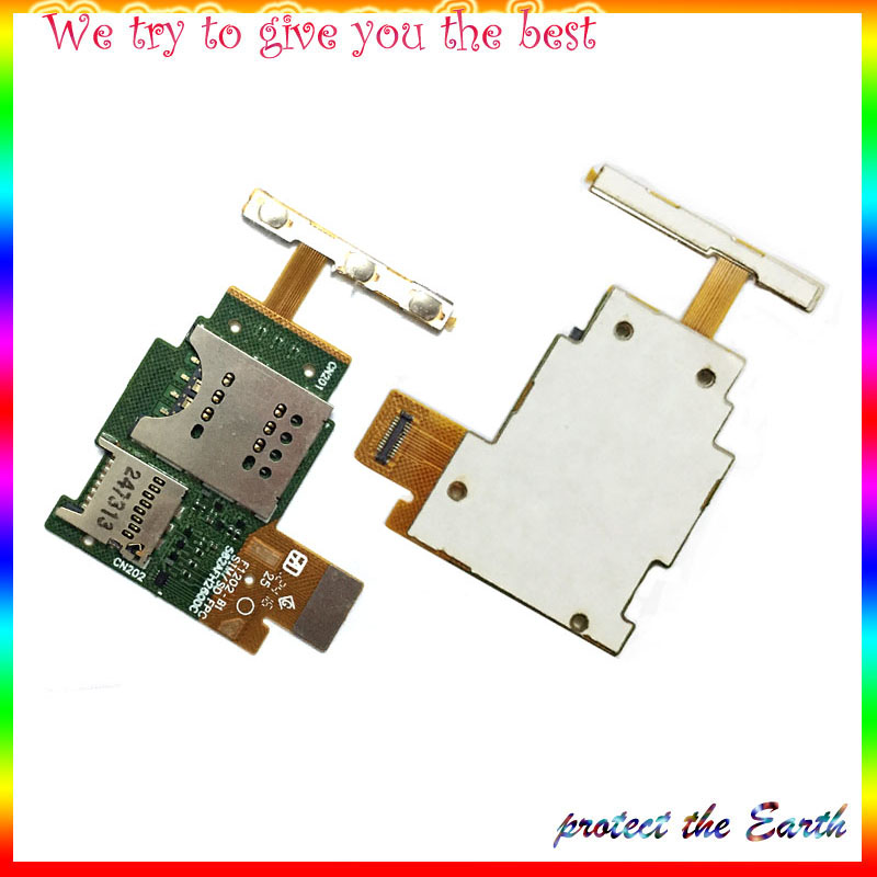 New625 Mobile Phone SIM Card Reader Contact Flex Cable for Sony Xperia J ST26 ST26i Replacement