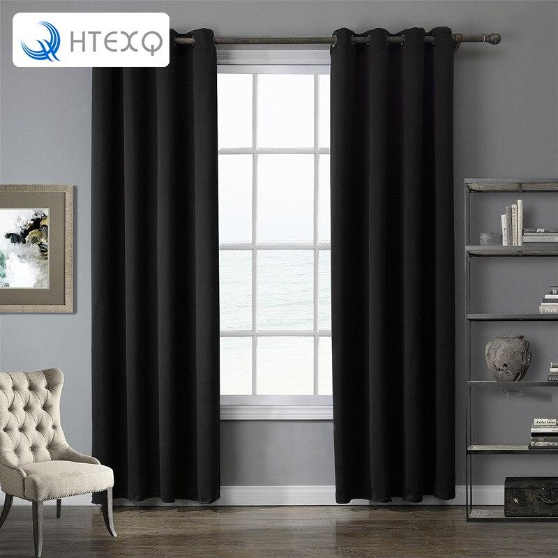 lujo moderno slido gris negro rojo color prpura de alta calidad dormitorio y sala de estar cortina de ventana del apagn