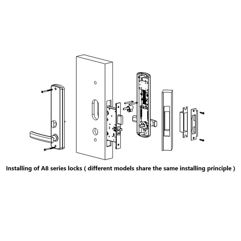 Elektronisk RFID-kort Dørlås med nøgle Elektrisk lås til - Sikkerhed og beskyttelse - Foto 4