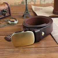 DKBLINGS spring New arrival men's luxurious real leather belt with solid brass buckle first layer of cowhide