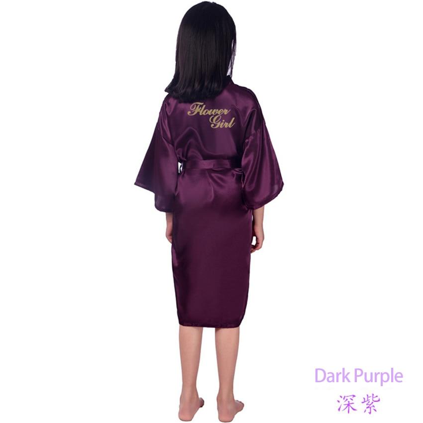 8955c9112bfe1 US $56.62 19% OFF|5pcs/lot Flower girl stain robes bathrobe for girls  kimono robe solid children dressing gown peignoir enfant bridesmaid  dress-in ...