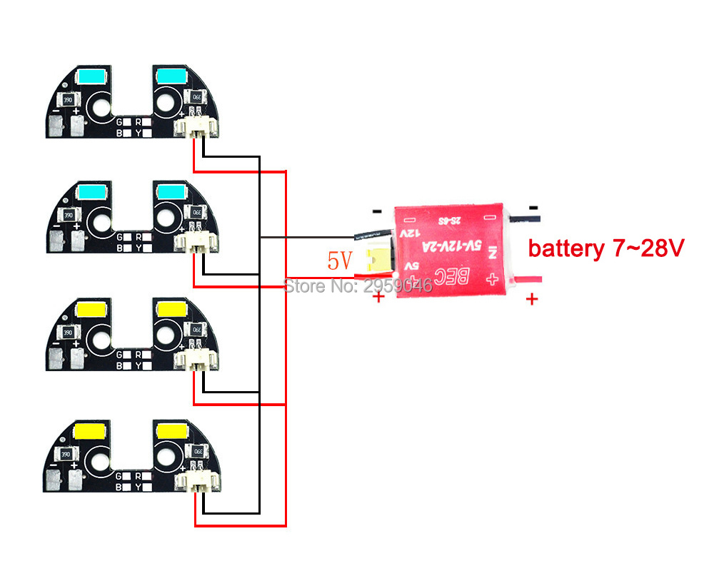 small resolution of drone led lights zmr model apm 2 6 2 5 2 8 led light tbs discovery navigation light