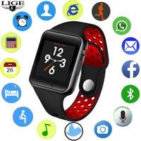 LIGE 2019 New Men Smart Watch Men Women Sport Pedometer LED Digital WristWatch Camera Music Player Smartwatch Support SIM card