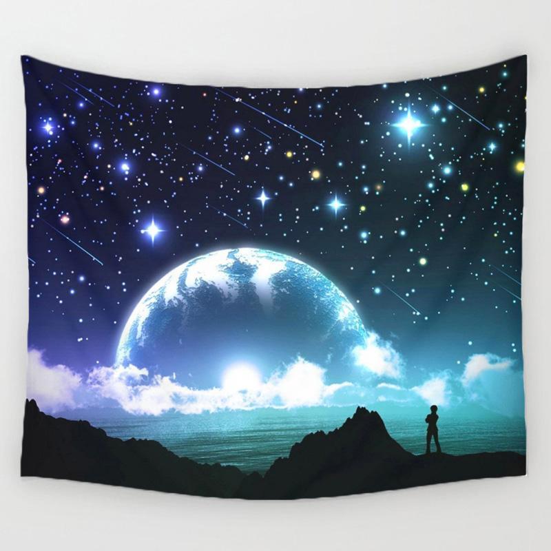 Tapiz de pared de cielo estrellado de 130 cm x 150 cm