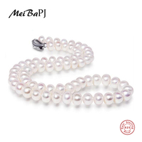 Lowest Price AAAA High Quality Natural Freshwater Pearl Necklace For Women 3 Colors 8 9 9