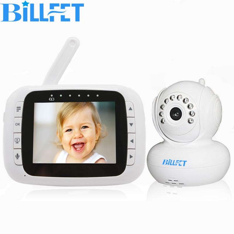 bilder für Drahtlose Kamera 3,5 zoll LCD Baby Video Audio Monitor Digital Baby Kindermädchen CAM PAN Nachtsicht Babyphone Zweiwegradio Babysitter