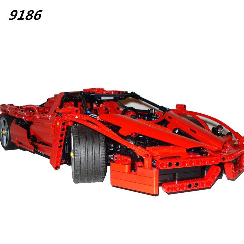 AIBOULLY 9186 Enzo 1:10 Modèle De Voiture Building Block Sets 1359 pcs Éducation Jigsaw DIY Construction Briques brinquedos Cadeau 8653