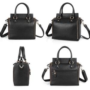 Image 4 - Sapateiro lenda super organizador bolsa de couro genuíno preto saco do mensageiro designer alça superior bolsas femininas tote macio satchel 2019