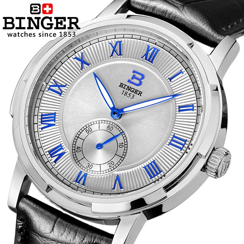 Wrist Watches Male Men's Watch gold Switzerland Men Watches Automatic Mechanical Binger Luxury Brand Sapphire Waterproof B5037 original binger mans automatic mechanical wrist watch date display watch self wind steel with gold wheel watches new luxury