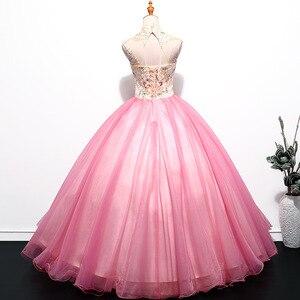 Image 2 - ヴィンテージ quinceanera のドレス 2018 新夫人勝利刺繍ボールガウンの古典的なパーティーウエディングフォーマルローブ · ド · 夜会 quinceanera のドレス