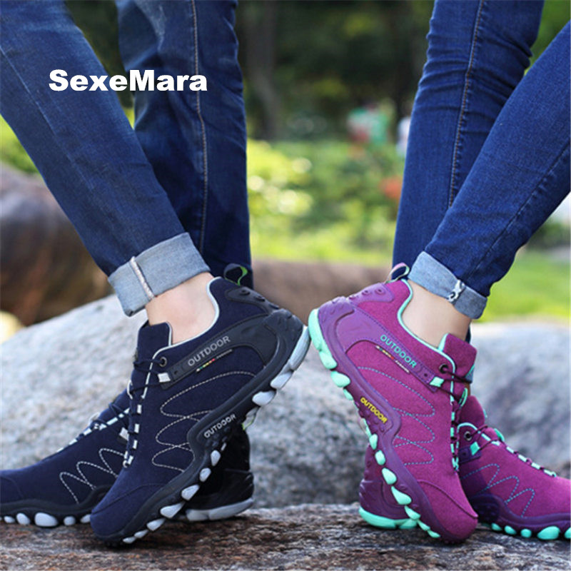 Running shoes for men Sneakers shoes women Outdoor Sport men non-slip Off-road Jogging woman Trainers Walking EU size 35-44 CN22 mulinsen men s running shoes blue black red gray outdoor running sport shoes breathable non slip sport sneakers 270235