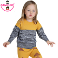 Campure 2016 Boys Girls Clothes Autumn Winter Brand Sweaters Yellow Gary 1-5Yrs Baby Boys Girls Knit Sweater Children Clothing