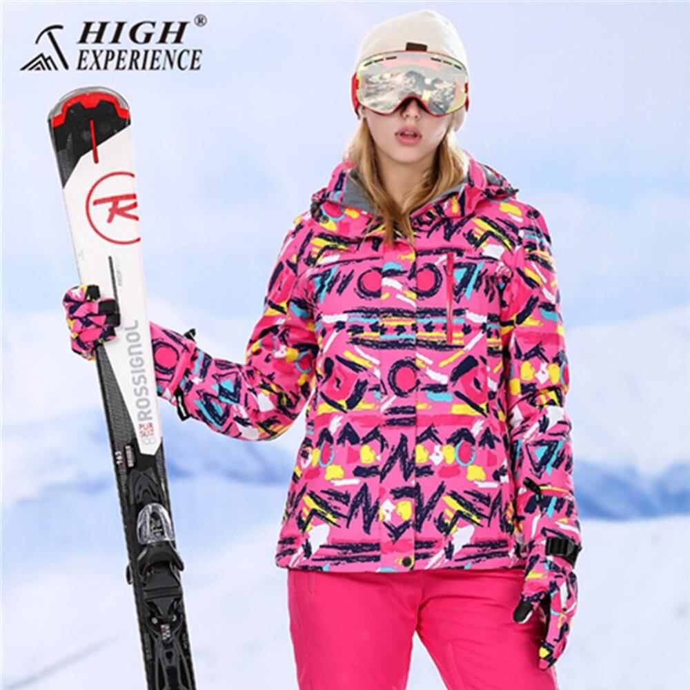2018 veste d'hiver femmes sports d'hiver pantalons de neige veste de ski femmes snowboard combinaison de ski féminin montagne ski costume pour les femmes