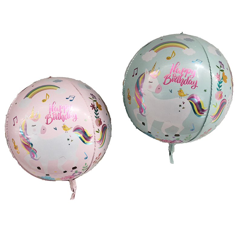 1pcs 22inch 4D Unicorn Rainbow Balloon globos Child Birthday Unicorn Party wedding Decorations Supplies kids Helium Balloons