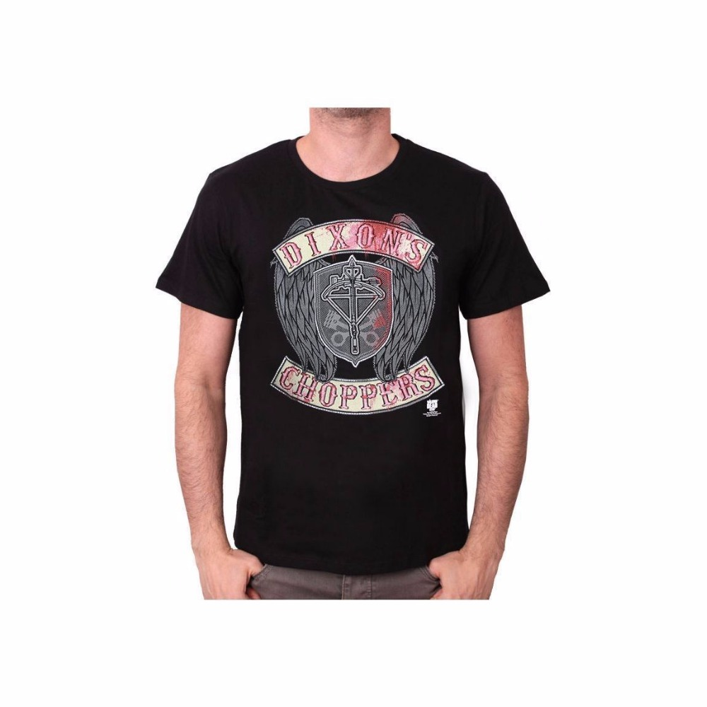 Quality T Shirts  Fashion Short O-Neck Mens Zom The Walking Dead Dixxon Shopp