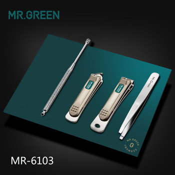 MR.GREEN Professional Stainless steel nail clippers set home 4 in 1 manicure tools grooming kit art portable nail personal clean 5