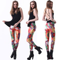 Free size 3235 Fashion Women  colorized chewing gum fruit prints elastic bodybuilding sexy Girl Leggings Pants