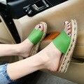 2016 novas mulheres de verão sandálias flat com branco planas toe sapatos Roma sapatos plus size 34-43