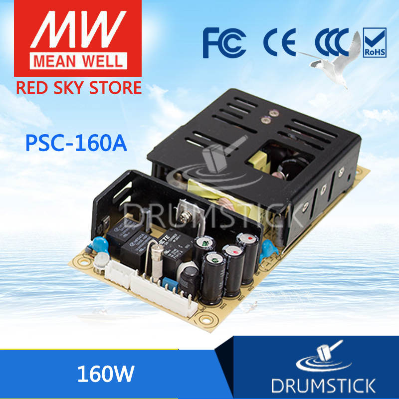 100% Original MEAN WELL PSC-160A 13.8V meanwell PSC-160 160W Single Output with Battery Charger(UPS Function) PCB type [Real6] 1mean well original gc160a24 ad1 27 2v 5 89a meanwell gc160 27 2v 160 2w single output battery charger