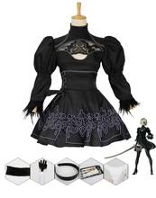 New Game Nier Automata Cosplay Costume YoRHa 2B Sexy Outfit Fancy Dress Halloween Costumes for Women S-XXL hot games nier automata 9s cosplay costumes men fancy party outfits coat yorha no 9 type s full set for halloween
