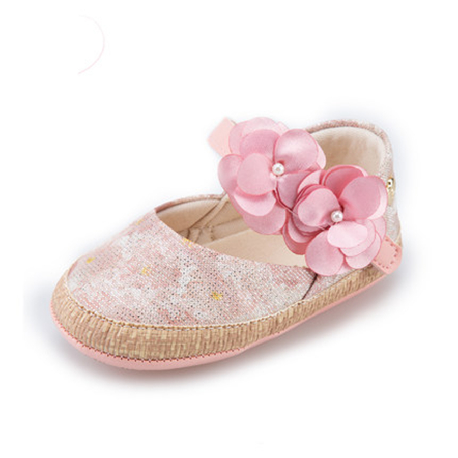 Flower Baby Summer Baby Shoes For Girls Soft Sole Cute Princess Elegant Fashion Cotton High Quality Baby Shoes For Girls 60A1071 kids girls crib shoes baby items for small first walkers sapatos infatil soft sole baby shoes moccasin footwear 603043