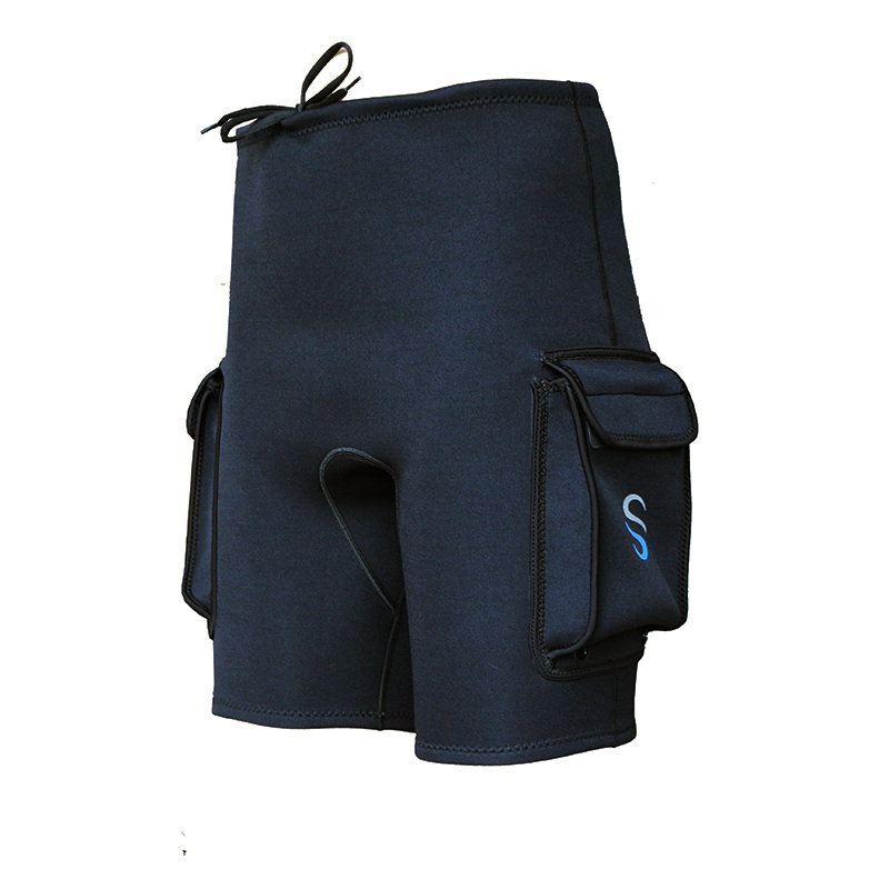 SLINX 3mm Neoprene Wetsuit Tech Shorts Snorkeling Scuba Diving Equipment Surfing Trunks Submersible Pocket Pants Black diving equipment