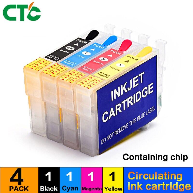 4pcs T1281 T1282 T1283 T1284 refill ink cartridge Compitalbe for stylus S22 SX130 SX125 SX235W SX435W SX425W BX305F BX305F