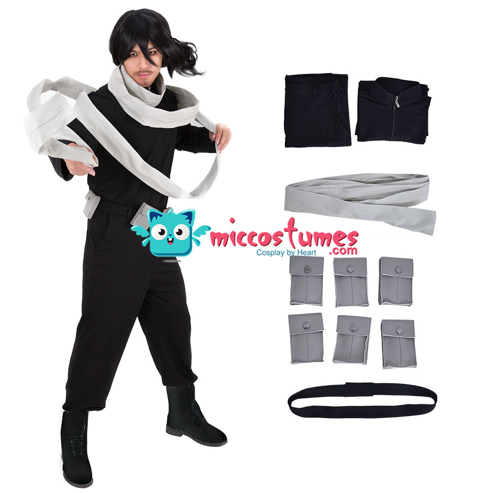 My Hero Academia Shota Aizawa Eraser Head Cosplay Costume with Scarf