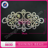 FREE SHIPPING Rhinestone AB Color Trimming Sliver Crystal Lace Trim For Wedding Dress Bride Decor Dancer