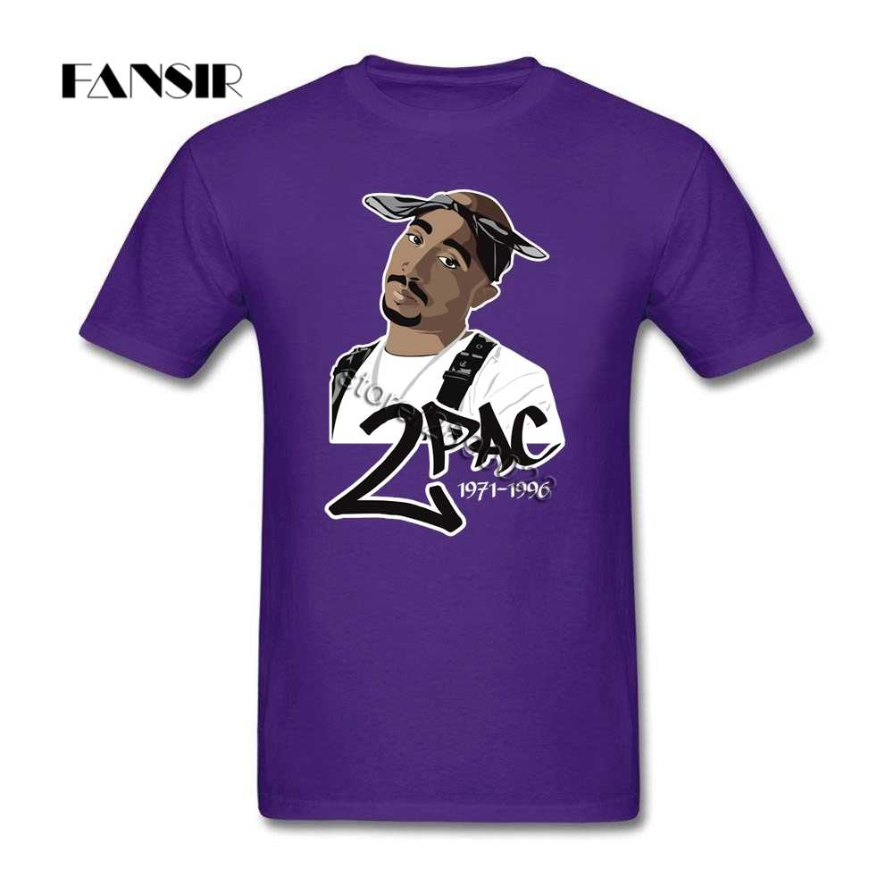 Camiseta de hombre creativa blanca personalizada de manga corta Camiseta Hombre Tupac 2pac Raper familia Tops ropa
