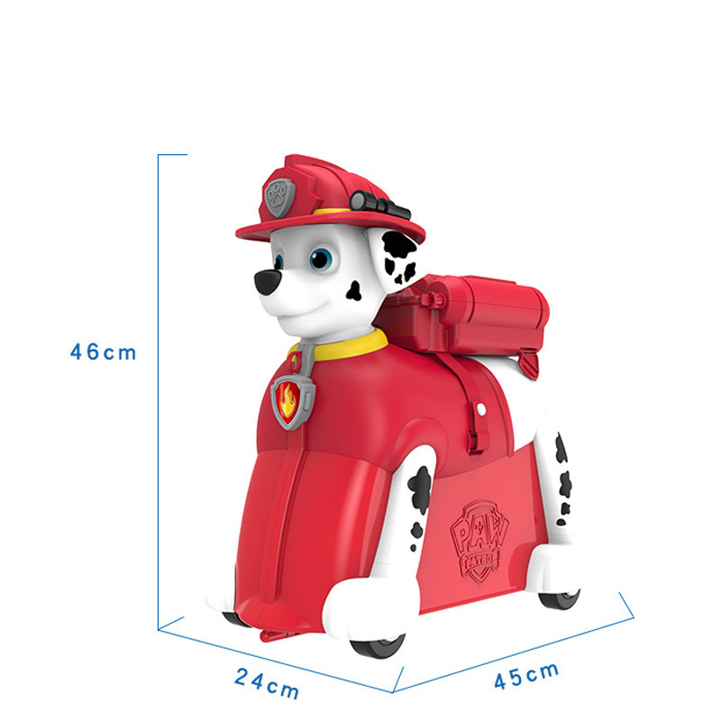 Paw patrol dog riding box The trunk can sit and drag kids Suitcase knapsack backpack chase marshall rocky zuma kids Toy